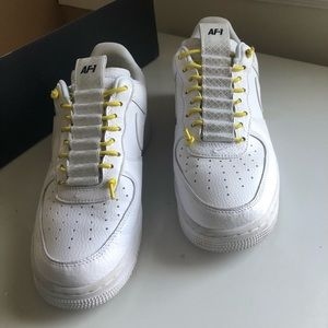 Nike Air Force 1s '07 Lux (yellow/chrome)